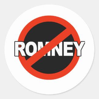 Nombre anti de Romney - .png Pegatina Redonda