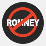 Nombre anti de Romney - .png Pegatinas Redondas