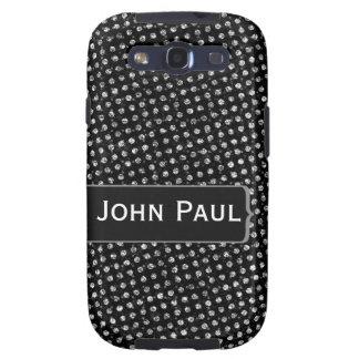 Nombre apenado del personalizado de Polkadots Galaxy S3 Funda