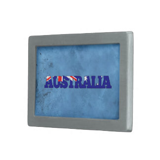 Nombre australiano y bandera en la pared fresca hebillas cinturon rectangulares