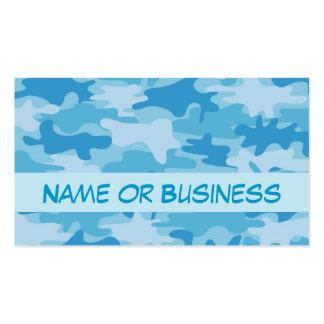 Nombre azul del camuflaje de Camo personalizado Plantilla De Tarjeta Personal