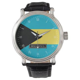 Nombre bahamés clásico del personalizado de la reloj