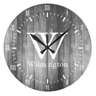 Nombre blanco de los números romanos de los reloj redondo grande