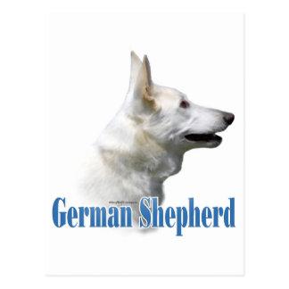 Nombre blanco del pastor alemán postal