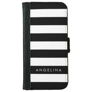 Nombre blanco y negro del personalizado del modelo carcasa de iPhone 6