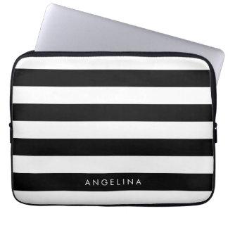 Nombre blanco y negro del personalizado del modelo manga portátil