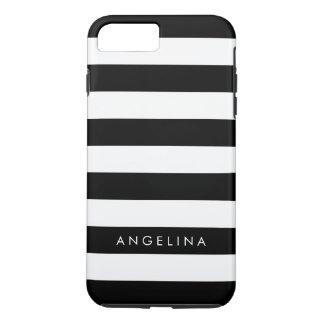 Nombre blanco y negro del personalizado del modelo funda iPhone 7 plus
