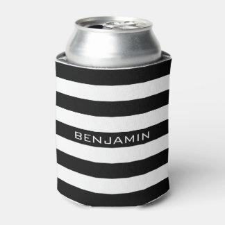 Nombre blanco y negro del personalizado del modelo enfriador de latas