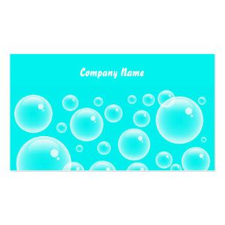 Nombre Blue Bubbles, Company Plantillas De Tarjetas Personales