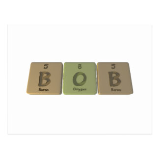 Nombre-Bob-B-o-b-boRo-oxígeno-Boro Postales