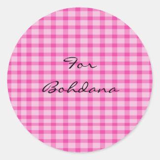 Nombre: Bohdana Pegatina Redonda