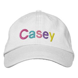 Nombre bordado colorido de Casey en el gorra Gorra De Béisbol