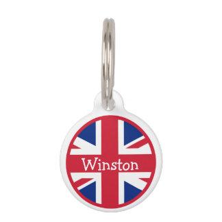Nombre BRITÁNICO de la identificación de la bander Placa De Mascota