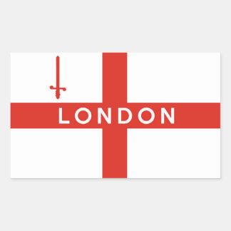 nombre británico del texto de la bandera de pegatina rectangular