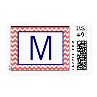 Nombre Chevron de 20 de los sellos azules marinos