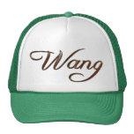 Nombre chino de WANG calificado gorra personalizad