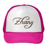 Nombre chino de ZHANG calificado gorra personaliza