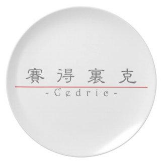 Nombre chino para Cedric 20504_2.pdf Plato De Cena