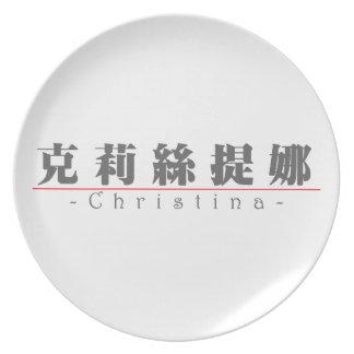 Nombre chino para Christina 21270_3 pdf Plato De Comida