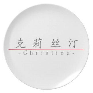 Nombre chino para Christine 20064_1 pdf Platos De Comidas
