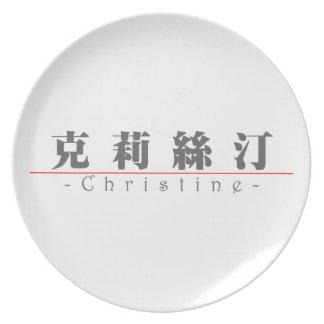 Nombre chino para Christine 20064_3 pdf Plato Para Fiesta