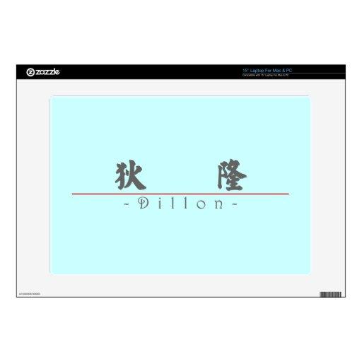 Nombre chino para Dillon 22344_4.pdf 38,1cm Portátil Calcomanías
