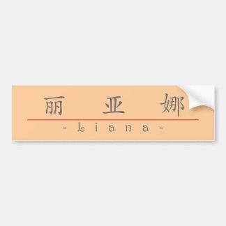 Nombre chino para el Liana 21463_1.pdf Etiqueta De Parachoque