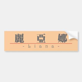 Nombre chino para el Liana 21463_3.pdf Etiqueta De Parachoque
