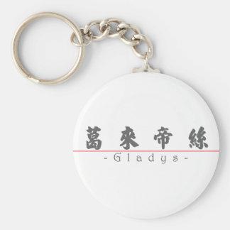 Nombre chino para Gladys 20137_4.pdf Llavero Redondo Tipo Pin