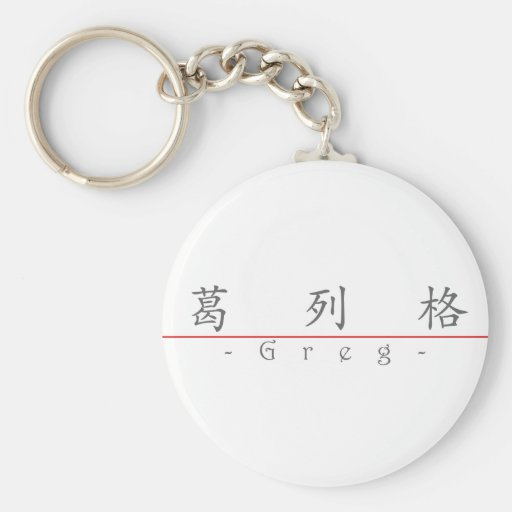 Nombre chino para Greg 20606_1.pdf Llavero Redondo Tipo Pin
