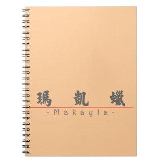 Nombre chino para Makayla 21055_4.pdf Libro De Apuntes Con Espiral
