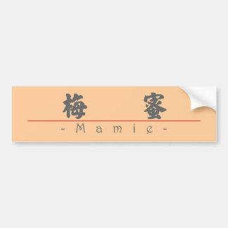 Nombre chino para Mamie 20222_4 pdf Etiqueta De Parachoque