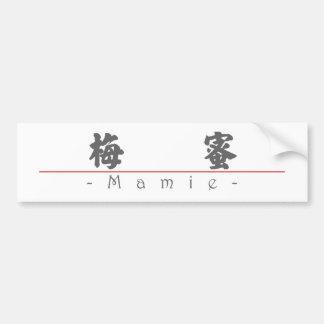 Nombre chino para Mamie 20222_4 pdf Pegatina De Parachoque