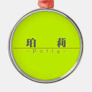 Nombre chino para Polly 20293_3.pdf Adorno Redondo Plateado