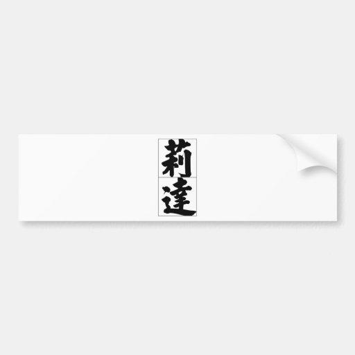 Nombre chino para Rita 20306_4.pdf Etiqueta De Parachoque
