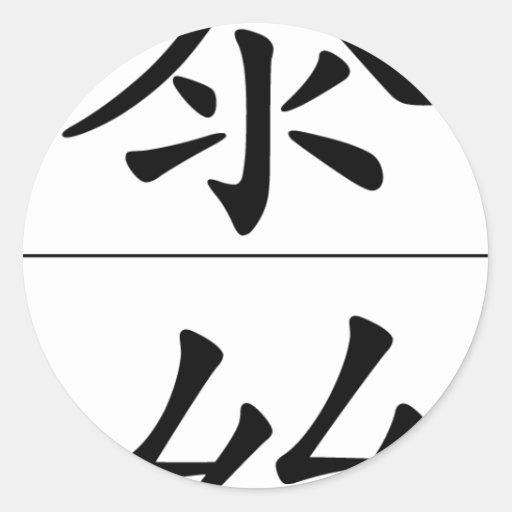Nombre chino para Tess 20346_1.pdf Pegatina Redonda