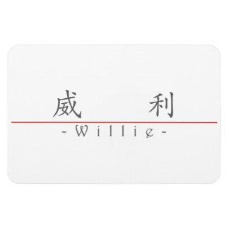 Nombre chino para Willie 20872_1 pdf Imán Rectangular