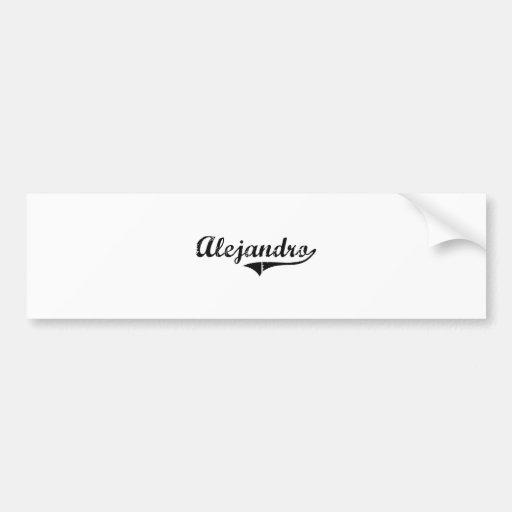 Nombre clásico del estilo de Alejandro Pegatina De Parachoque