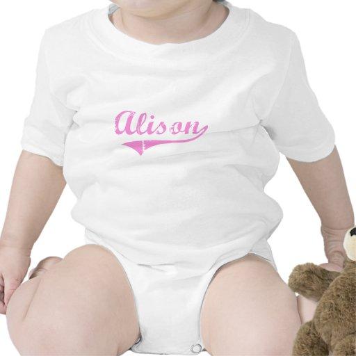 Nombre clásico del estilo de Alison Traje De Bebé