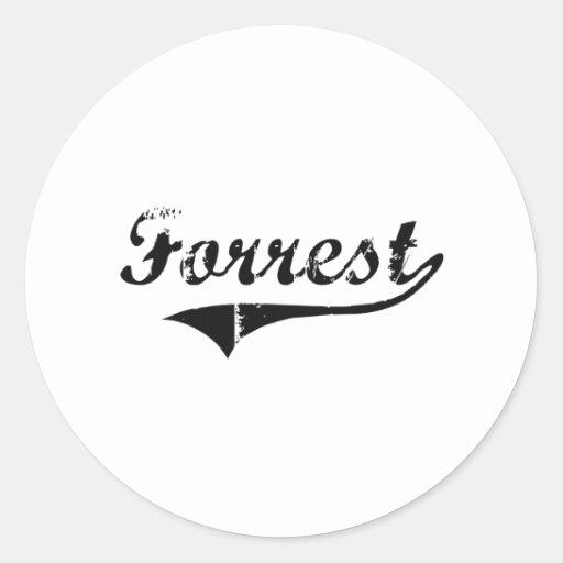 Nombre clásico del estilo de Forrest Etiquetas