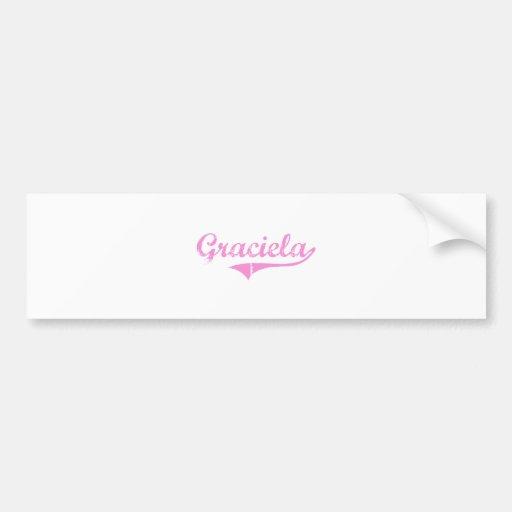 Nombre clásico del estilo de Graciela Pegatina De Parachoque