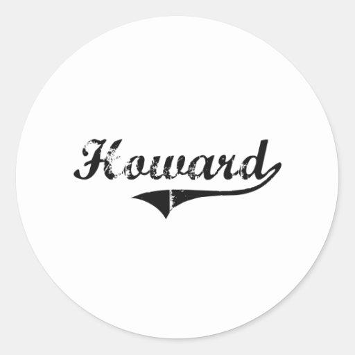 Nombre clásico del estilo de Howard Pegatina Redonda