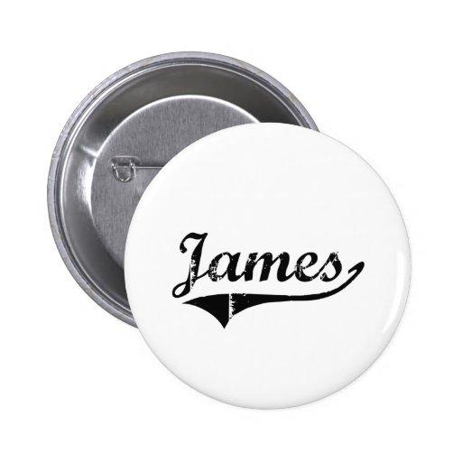 Nombre clásico del estilo de James Pin Redondo 5 Cm