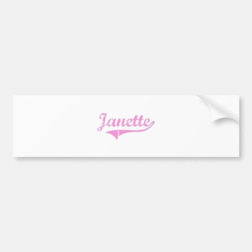 Nombre clásico del estilo de Janette Pegatina Para Auto