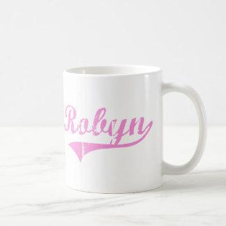 Nombre clásico del estilo de Robyn Taza Básica Blanca
