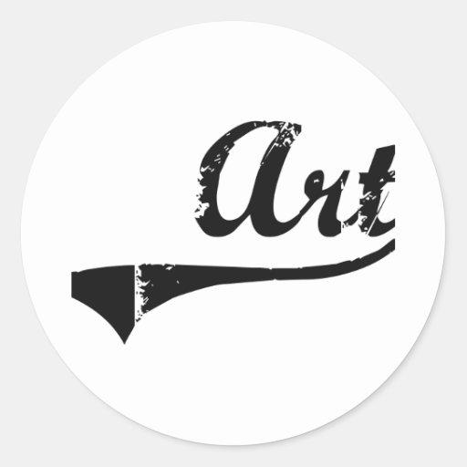 Nombre clásico del estilo del arte etiquetas redondas