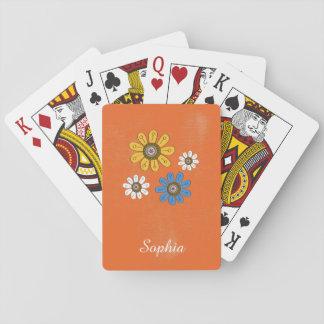 Nombre colorido bohemio del personalizado de las cartas de póquer
