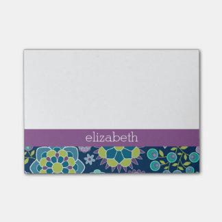 Nombre colorido del personalizado del estampado de nota post-it®