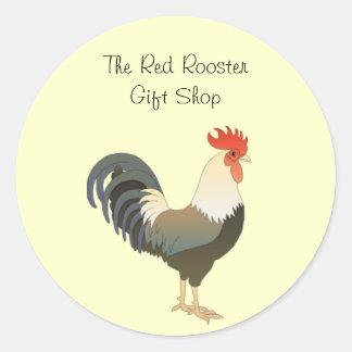 Nombre comercial de encargo rojo del animal del pegatina redonda
