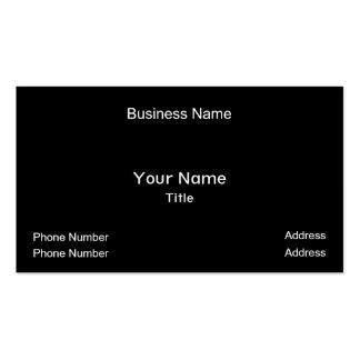 Nombre comercial, su nombre, título, número de tarjetas de visita